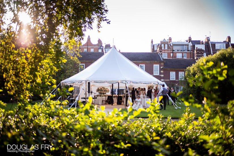wedding photograph of marquee in Chelsea