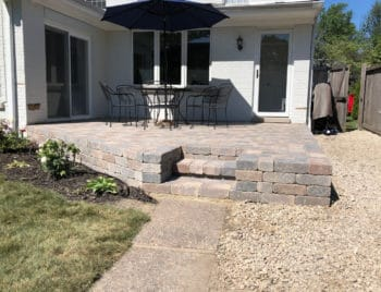 raised brick patio