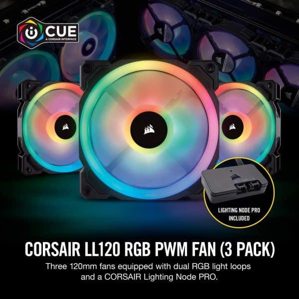 CORSAIR LL120 RGB LED FAN- 3 FAN PACK 1