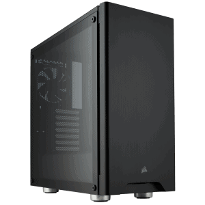 CORSAIR 275R TEMPERED GLASS BLACK