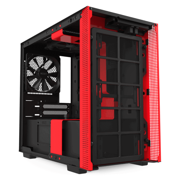 NZXT H210i BLACK RED-3