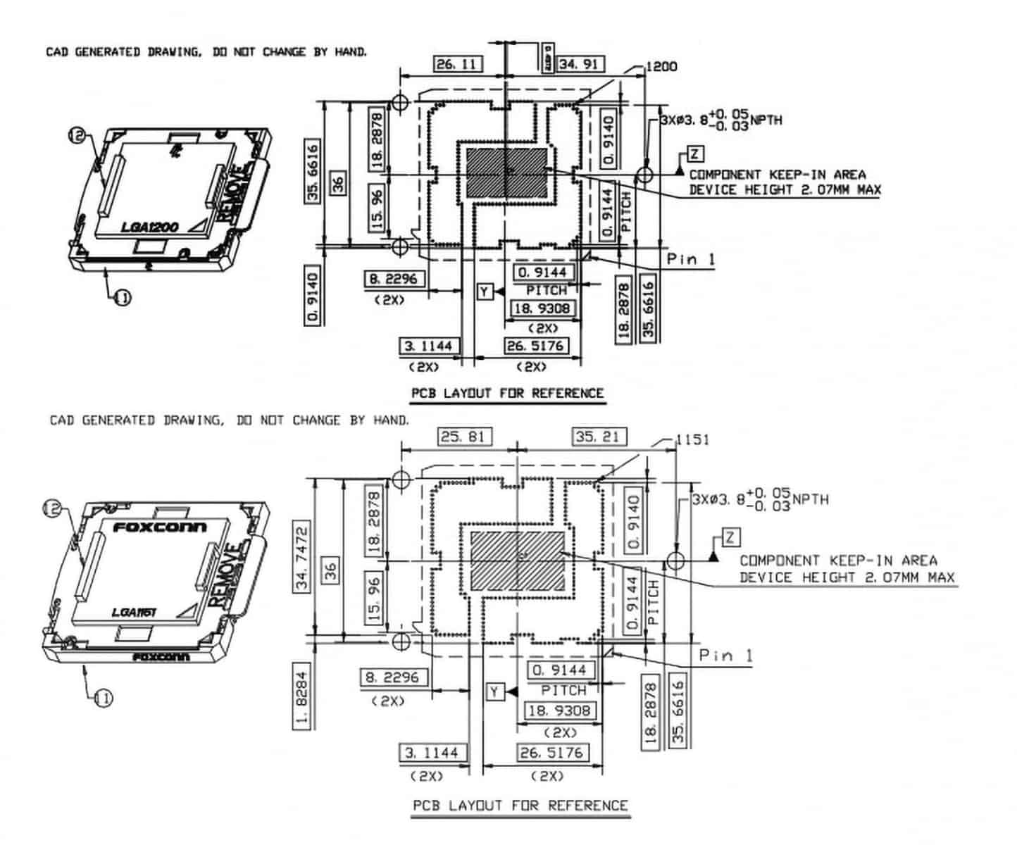 LGA Socket Layout