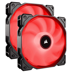 CORSAIR AF140 RED LED FAN-DUAL PACK