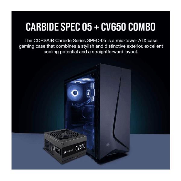 CORSAIR CARBIDE SPEC 05 with CV650 PSU-1