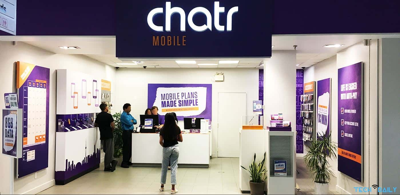 Chatr Mobile store in mall