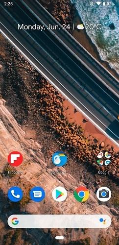 Google Pixel 3a Home Screen