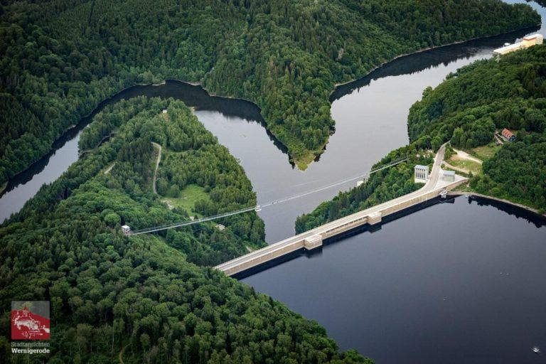 Rappbodetalsperre und Hängebrücke im Oberharz
